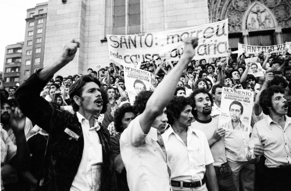 Resultado de imagem para protesto contra morte Santo Dias