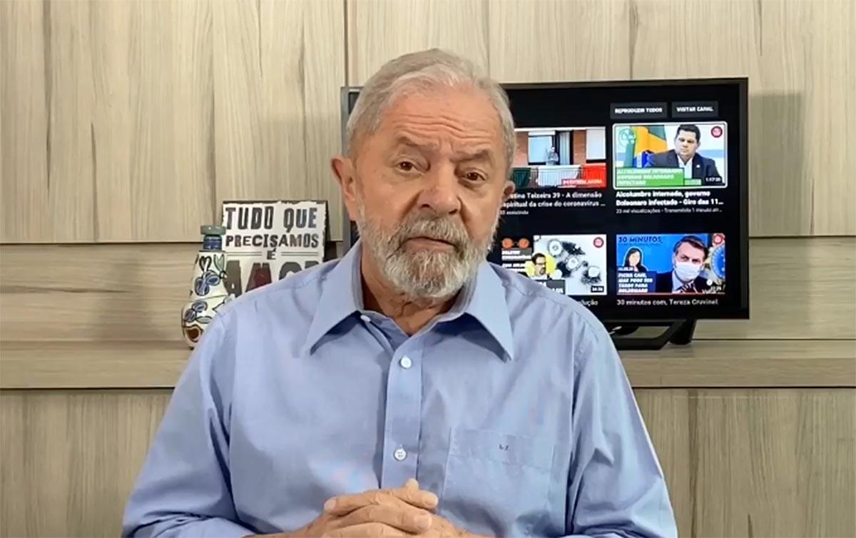 Lula se impõe quarentena e prega 'mais solidariedade, menos ódio'