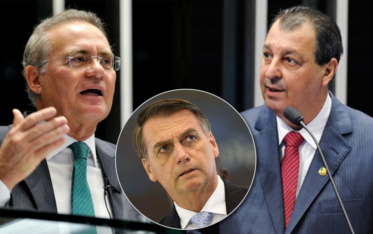 Renan Calheiros na relatoria da CPI da Covid assombra Bolsonaro