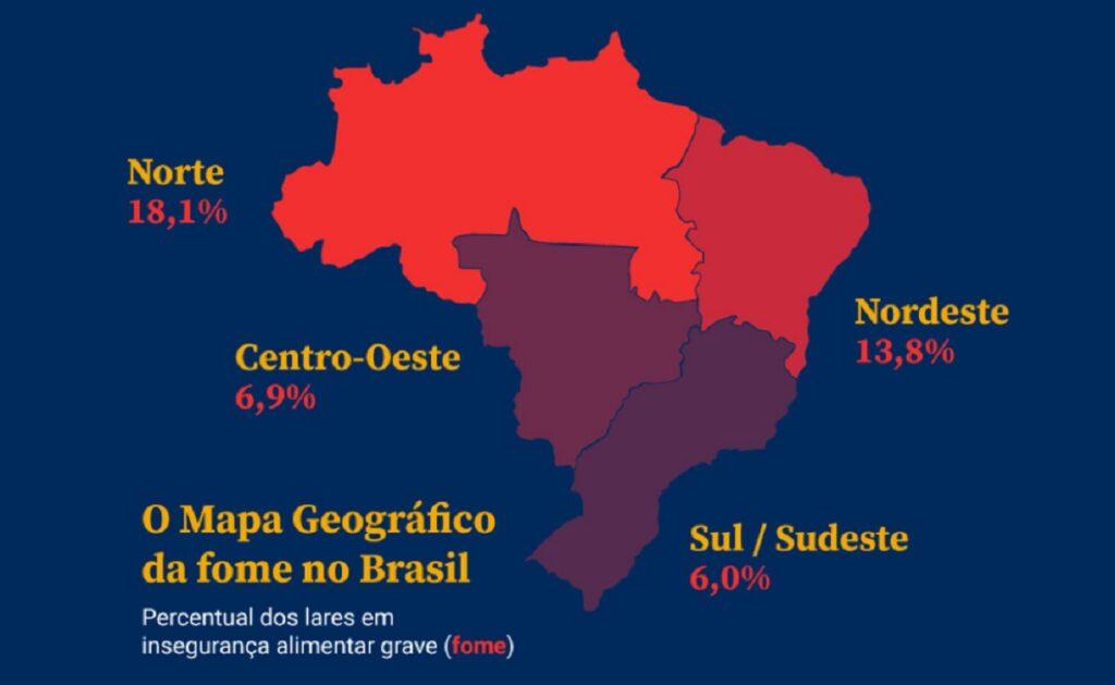 Fome no Brasil por região